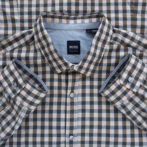 Boss Hugo Boss Plaid Mens Shirt Size L